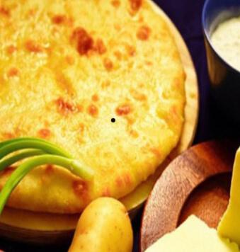 Пирог с сыром и картофелем 450гр