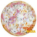 Пицца с ветчиной и грибами 600 г